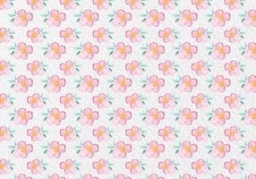Gratis Vector Pink Watercolor Floral Pattern