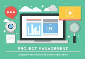 Gratis Flat Project Management Vector Achtergrond
