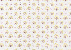 Gratis Vector Bloemen van de waterverf Pattern