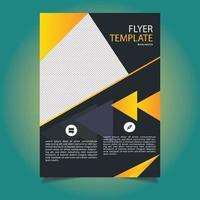 geel en grijs corporate flyer-sjabloon