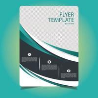 groene en grijze moderne professionele zakelijke flyer-sjabloon