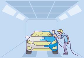 Free Car Body Repaint Illustratie vector