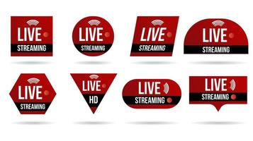 set van banners voor live videostreaming