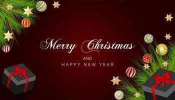 kerst ontwerp met tak, ornament hoek ontwerp
