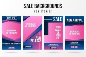 trendy bewerkbare verkoop, verhaalset voor nieuwe release op sociale media