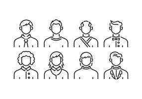 Men avatars vector