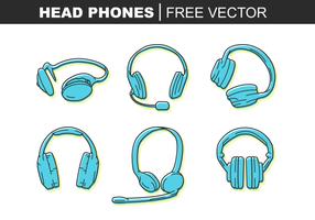 Hoofd Telefoon Gratis Vector