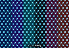 Set van vector naadloze patronen met gloeiende sterren