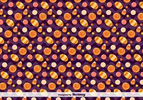Vector Candy Patroon Voor Halloween