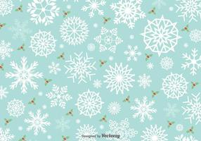 Minimal Snowflakes Vector Pattern