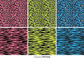 Dierlijke Druk Vector Patterns
