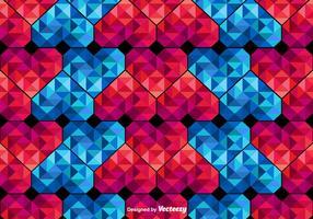 Vector Polygonal naadloze patroon van harten