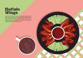 Buffalo vleugels lunch vector