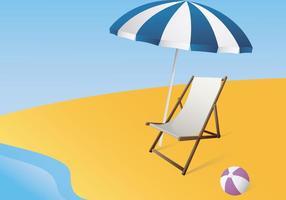 Illustratie Van Een Dek Canvas Chair vector