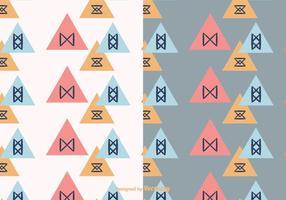 Driehoek geometrische achtergronden vector