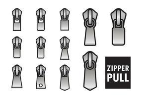 Geschetst Zipper Pull Vectors