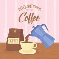 viering van internationale koffiedag