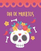 dag van de doden viering met suikerschedel
