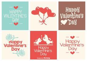 Cute Mini Valentijnsdag Crad Collection vector