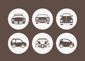 Free Car silhouet vector Icons