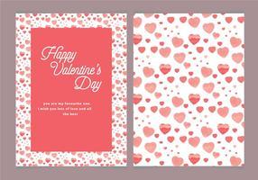 Kaart van de Dag Vector Hearts Valentijnsdag