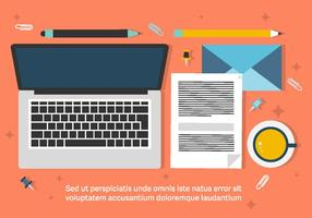 Free Business Workdesk Illustratie vector