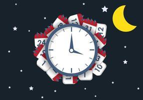 Night Deadline Vector Illustration