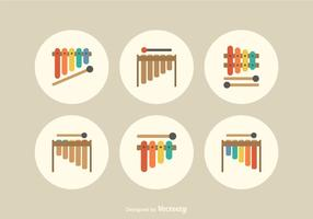 Gratis Flat Marimba Vector Icons