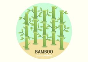 Gratis Bamboo Vector Illustration