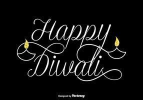 Gratis Gelukkige Diwali Vector Belettering