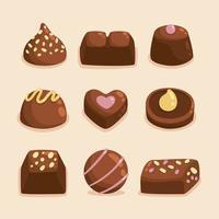 heerlijke chocoladecollectie vector