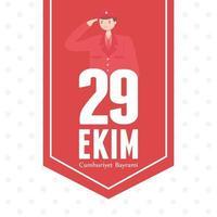 turkije republiek dag. hanger met soldaat die salueert