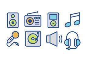 Vector Muziek Icon Set