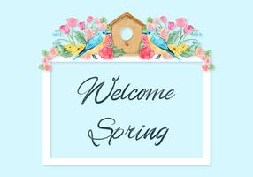 Spring Quote Achtergrond vector