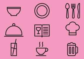 Keuken Line Items vector