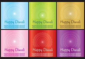 Diwali Cards vector