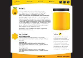 Honing Voedsel webpaginasjabloon Vector