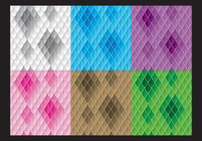 Kleurrijke Snake Patronen vector