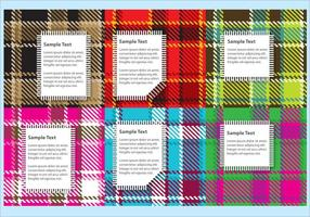 Flanel Fabric Vectoren met Labels