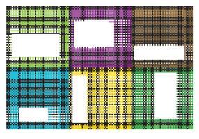 Gescheurde Flanel Fabric Vectors