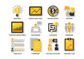 Bussines Flat Icons vector