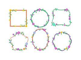 Bloemen Grens Funky Frames Gratis Vector