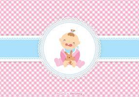 Leuk Schreeuwend Baby Girl Vector