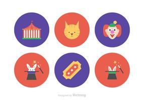 Circus Flat Vector Icons