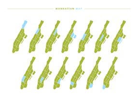 Manhattan Kaart Vector
