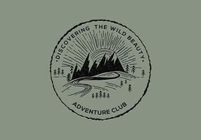 Avontuurlijke club badge vector