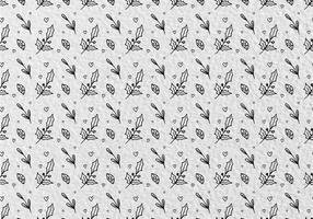 Gratis Vector Patroon Met Heilige Bloemen Bladeren