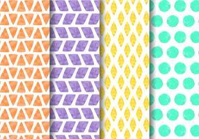 Gratis Painted geometrisch patroon Vector