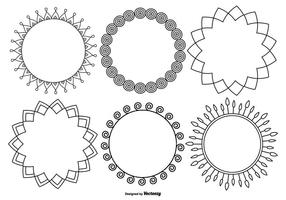 Funky Decoratief Frame Collection vector