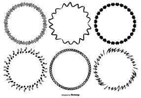 Funky Schetsmatige Frame Collection vector